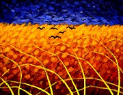 Cornfield Paintings - Homage To Van Gogh by John  Nolan