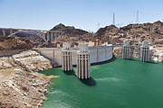 Natural Dam Prints - Hoover Dam And Lake Mead Usa Print by Bryan Mullennix