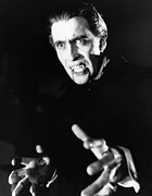 1950s Movies Photo Posters - Horror Of Dracula, Christopher Lee, 1958 Poster by Everett
