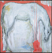 Horse Drawing Mixed Media Framed Prints - Horse Framed Print by Jan Zoya