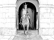 London England  Drawings - horse Parade Royal Guard London England by Joseph Hendrix