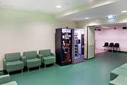 Vending Machine Photo Framed Prints - Hospital Corridors. Doors Signs Framed Print by Jaak Nilson