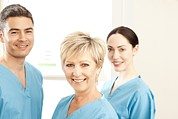 Hospital Staff Print by