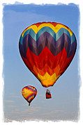 Basket Digital Art Prints - Hot air balloons Print by Elena Nosyreva