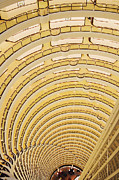 Looking Down Framed Prints - Hotel Atrium in the Jin Mao Tower Framed Print by Jeremy Woodhouse