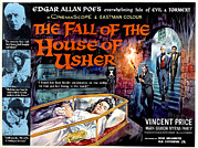 Gothic Poster Posters - House Of Usher, Aka The Fall Of The Poster by Everett