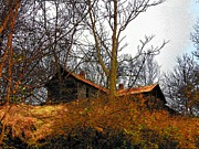 Old Houses Metal Prints - House on the Hill Metal Print by Joyce L Kimble