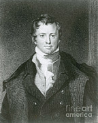 Knighted Metal Prints - Humphry Davy, English Chemist Metal Print by Science Source