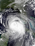 Meteorology Posters - Hurricane Katrina Poster by Stocktrek Images
