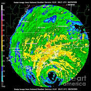 Data Photos - Hurricane Katrina, Wfo Radar, 2005 by Science Source
