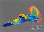Shock Framed Prints - Hyper-x Hypersonic Aircraft Framed Print by Science Source