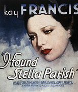 Stella Art Framed Prints - I Found Stella Parish, Kay Francis, 1935 Framed Print by Everett
