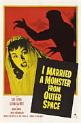 1950s Movies Framed Prints - I Married A Monster From Outer Space Framed Print by Everett