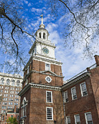 Old City Tower Posters - Independence Hall Poster by John Greim