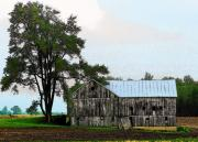 Rural Indiana Prints - Indiana Barn Print by Joyce  Kimble Smith