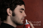 Spray Bottle Posters - Inhalant Poster by Photo Researchers, Inc.