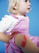 Sticking Prints - Injured Baby Girl Print by Ian Boddy