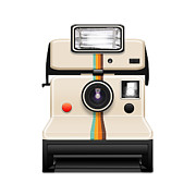 Toy Camera Prints - Instant Camera With A Blank Photo Print by Setsiri Silapasuwanchai
