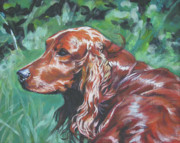 Irish Prints - Irish  Setter Print by Lee Ann Shepard