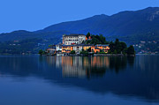 Boat House Prints - Island of San Giulio on Lake Orta Print by Joana Kruse