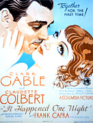 Films By Frank Capra Posters - It Happened One Night, Clark Gable Poster by Everett