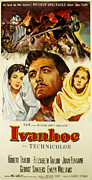 1952 Movies Framed Prints - Ivanhoe, Elizabeth Taylor, Robert Framed Print by Everett