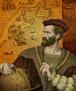 Jacques Framed Prints - Jacques Cartier, French Explorer Framed Print by Science Source