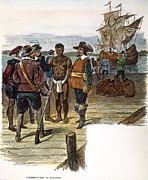 Colonist Posters - Jamestown: Slavery, 1619 Poster by Granger