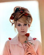 Updo Framed Prints - Jane Fonda, 1960s Framed Print by Everett