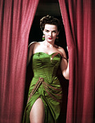 Strapless Dress Posters - Jane Russell, Portrait Poster by Everett