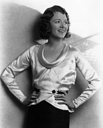 Shawl Collar Framed Prints - Janet Gaynor, 1938 Framed Print by Everett