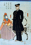 Dog Walking Posters - JAPAN: YOKOHAMA, c1861 Poster by Granger
