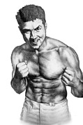 Strikeforce Drawings - Jason Mayhem Miller by Audrey Snead