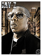 Rap Mixed Media Framed Prints - Jay Z Framed Print by The DigArtisT