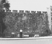 Middle Ages Prints - Jerusalem City Wall, Historic Site Print by Photo Researchers