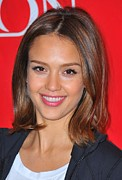 Natural Makeup Posters - Jessica Alba At A Public Appearance Poster by Everett