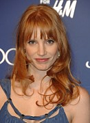 Jessica Chastain Framed Prints - Jessica Chastain At Arrivals For Jimmy Framed Print by Everett