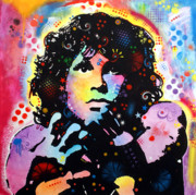 Acrylic Painting Framed Prints - Jim Morrison Framed Print by Dean Russo