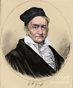 Colorized Prints - Johann Carl Friedrich Gauss, German Print by Science Source