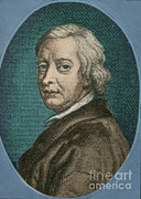 Dryden Framed Prints - John Dryden, English Poet Laureate Framed Print by Photo Researchers