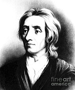 Metaphysics Photo Posters - John Locke, English Philosopher, Father Poster by Science Source