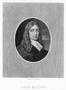 Engraving Photo Posters - John Milton (1608-1674) Poster by Granger
