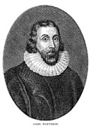 Puritan Framed Prints - John Winthrop (1588-1649) Framed Print by Granger