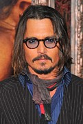 Mustache Framed Prints - Johnny Depp At Arrivals For The Tourist Framed Print by Everett