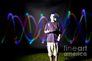 Biomechanic Framed Prints - Juggling Light-up Balls Framed Print by Ted Kinsman