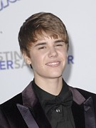 Justin Bieber Prints - Justin Bieber At Arrivals For Justin Print by Everett