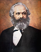 Bearded Man Framed Prints - Karl Marx Framed Print by Unknown