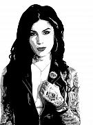 Tattoo Paintings - Kat von D by Dan Carman