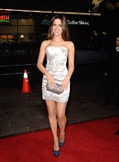 Silver Dress Prints - Kate Beckinsale Wearing A J. Mendel Print by Everett