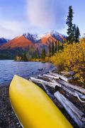 Kathleen Lake And Mountains, Kluane Print by Yves Marcoux